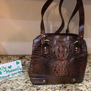 Brahmin Croc Embossed Bag Excellent Condition